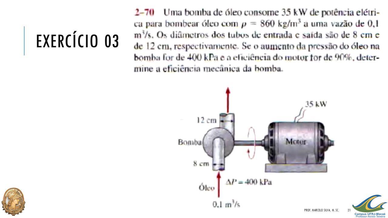 Exercício 03 Prof. Marcelo Silva, M. Sc.