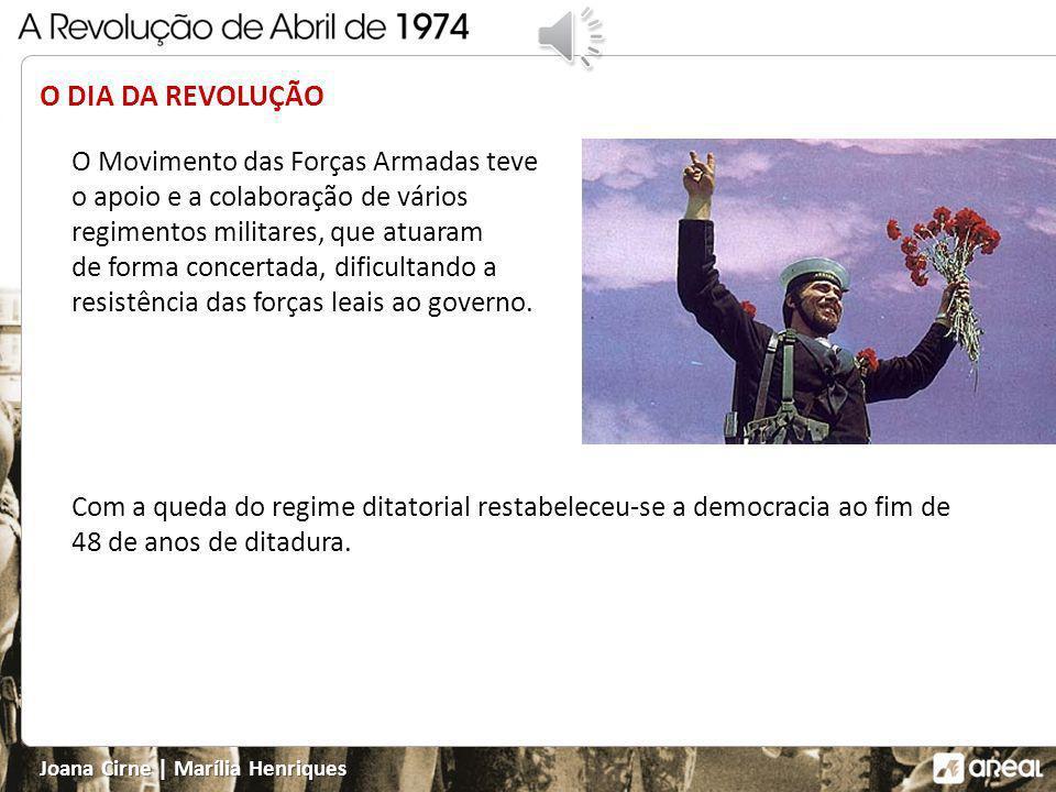 O DIA DA REVOLUÇÃO O Movimento das Forças Armadas teve