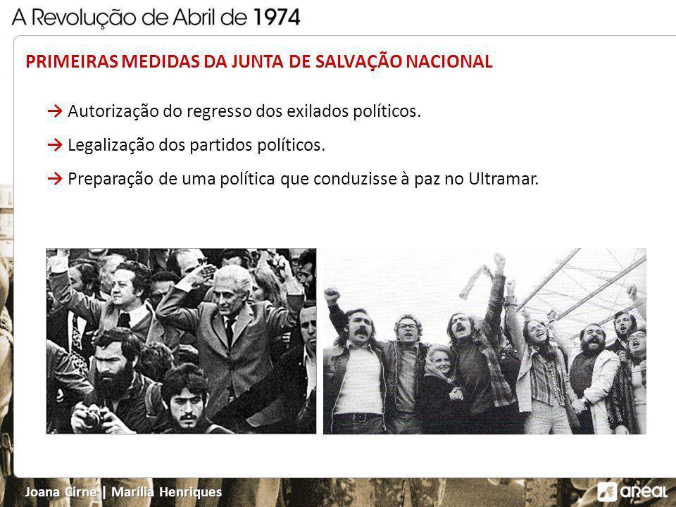 PRIMEIRAS MEDIDAS DA JUNTA DE SALVAÇÃO NACIONAL