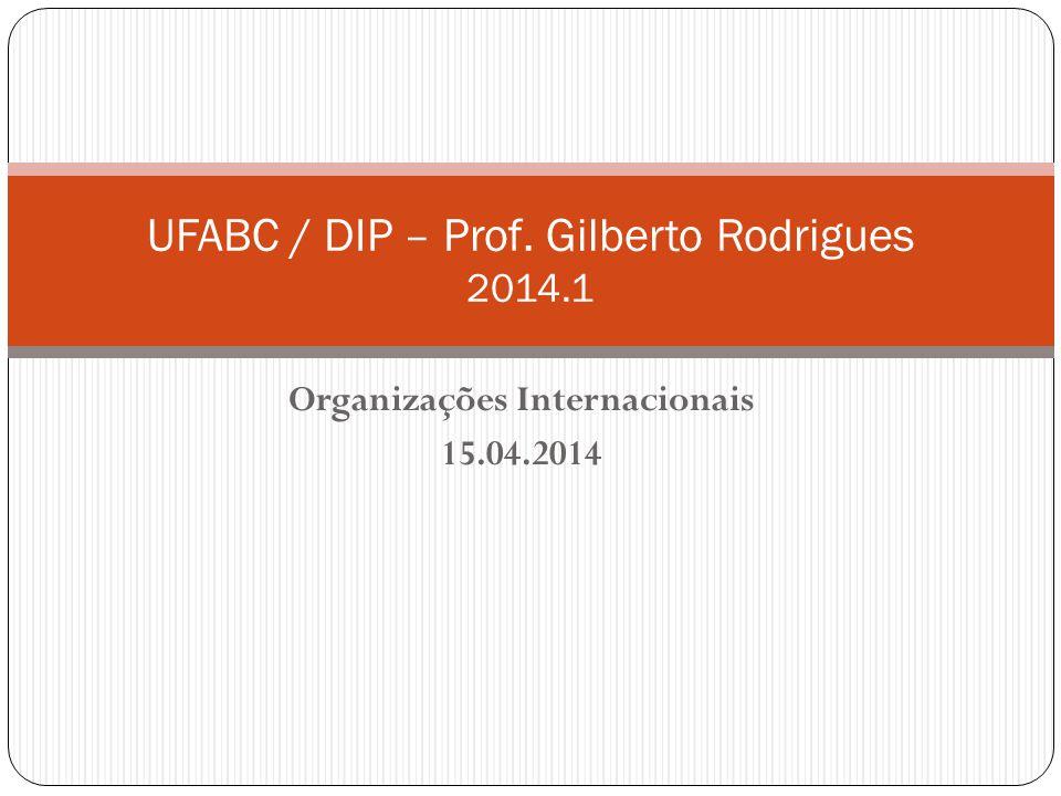 UFABC / DIP – Prof. Gilberto Rodrigues 2014.1