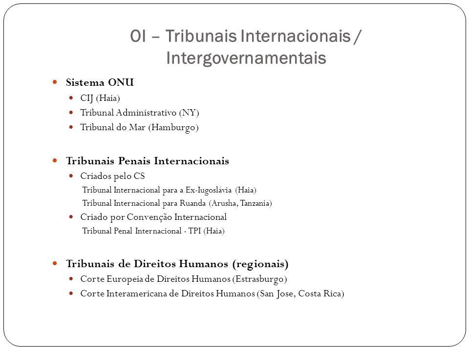 OI – Tribunais Internacionais / Intergovernamentais