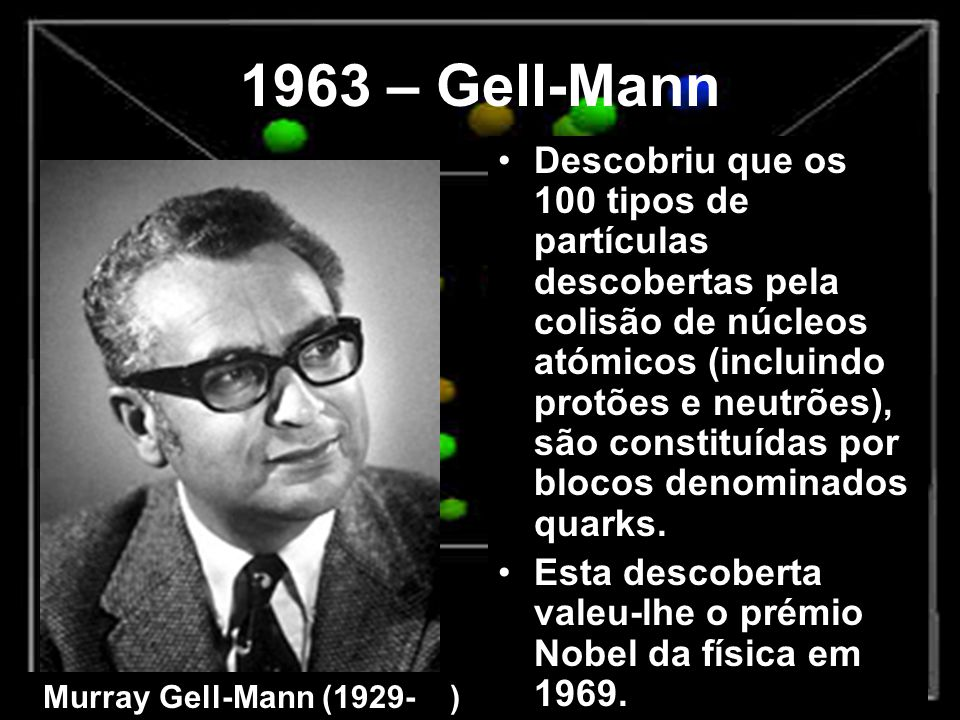 1963 – Gell-Mann