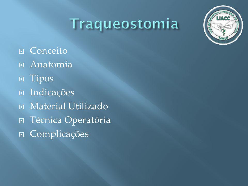 Traqueostomia Conceito Anatomia Tipos Indicações Material Utilizado