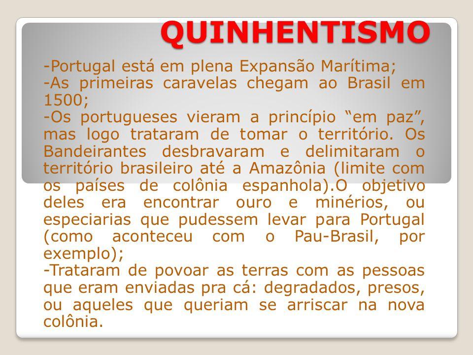 QUINHENTISMO -Portugal está em plena Expansão Marítima;