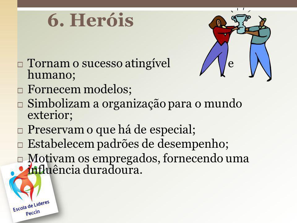 6. Heróis Tornam o sucesso atingível e humano; Fornecem modelos;