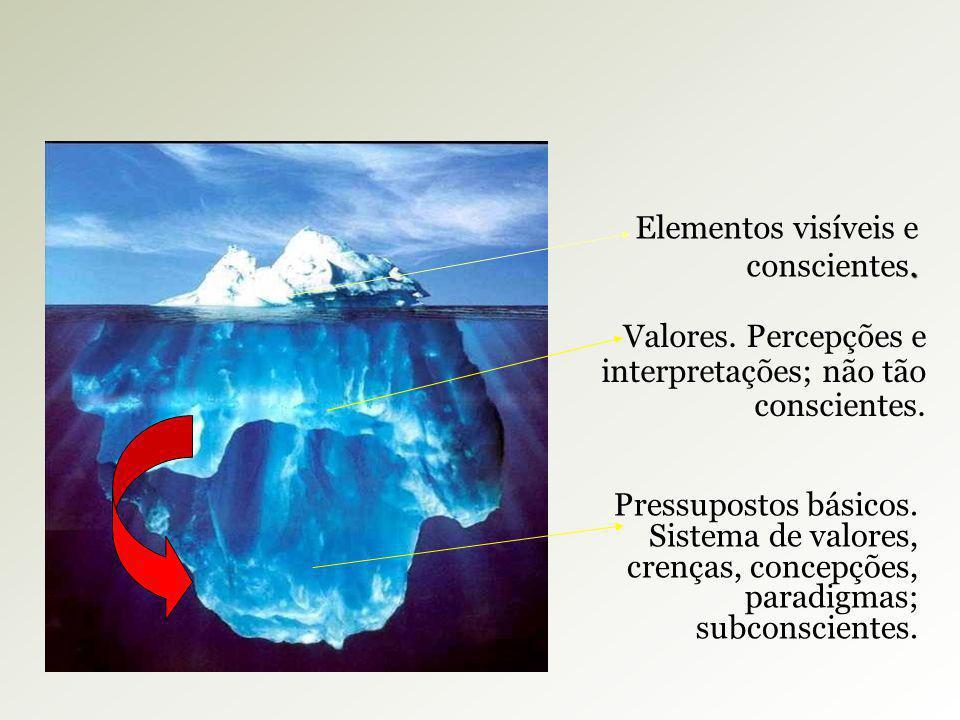Elementos visíveis e conscientes.