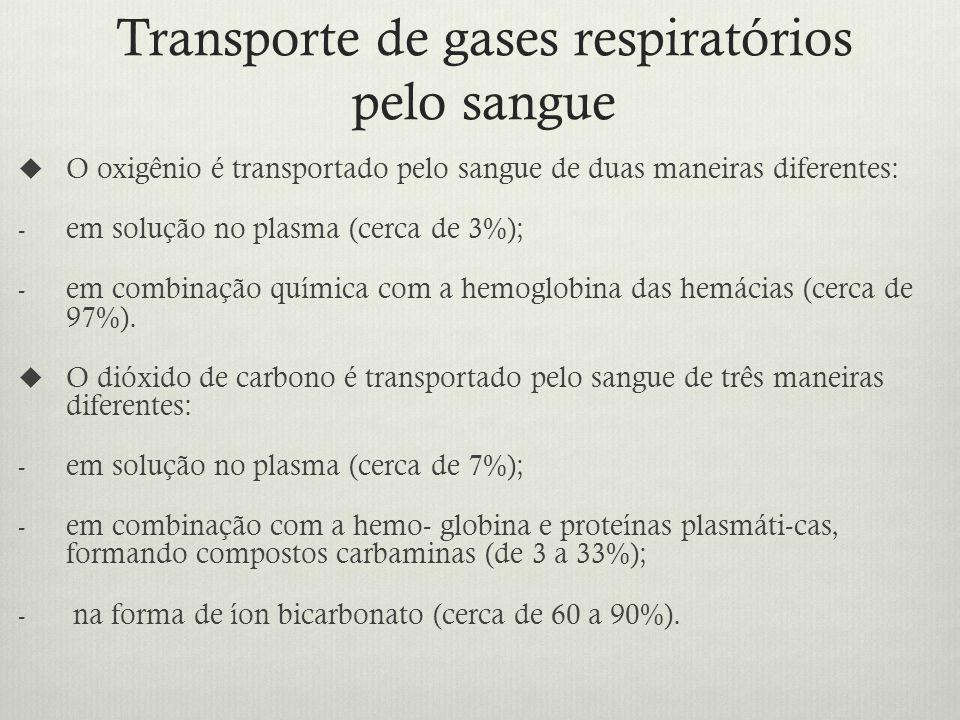 Transporte de gases respiratórios pelo sangue