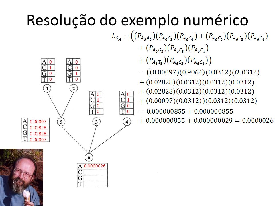 Resolução do exemplo numérico