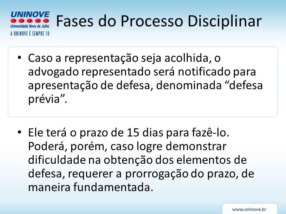 Fases do Processo Disciplinar