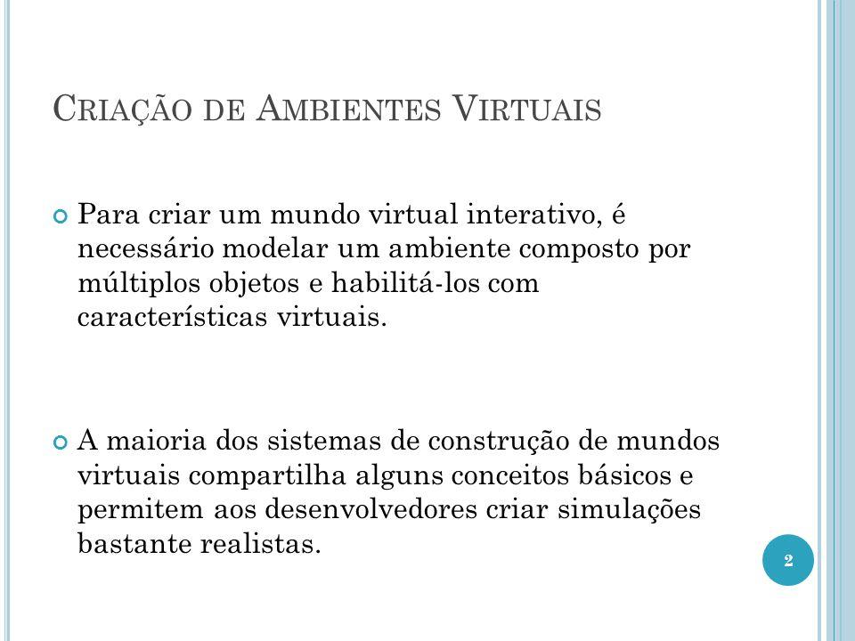 Criação de Ambientes Virtuais