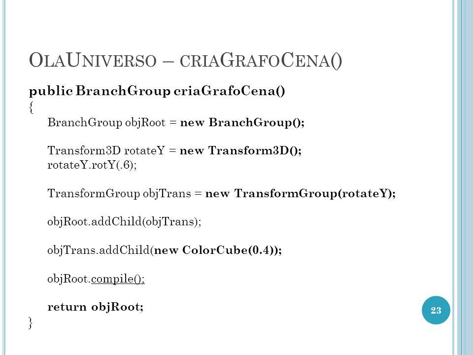 OlaUniverso – criaGrafoCena()