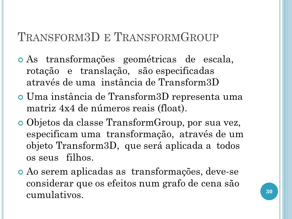 Transform3D e TransformGroup