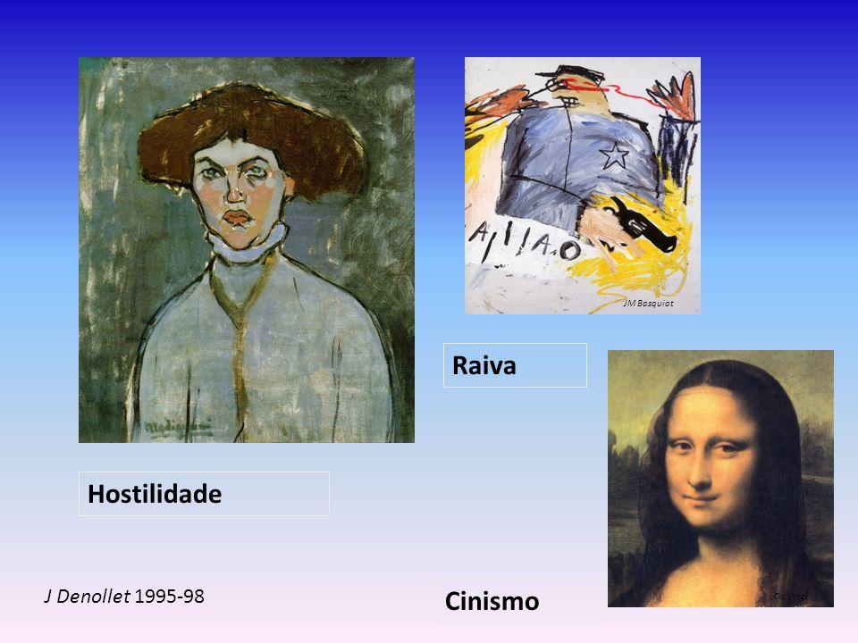 JM Basquiat Raiva Hostilidade J Denollet 1995-98 Cinismo Da Vinci