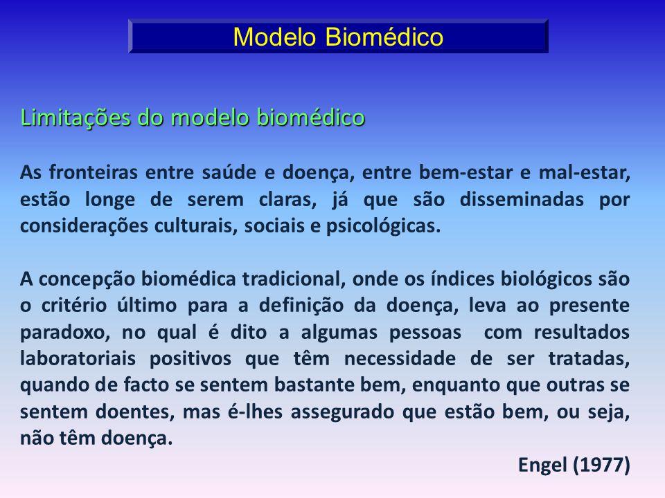 Limitações do modelo biomédico