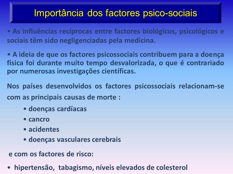 Importância dos factores psico-sociais