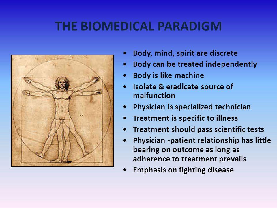 THE BIOMEDICAL PARADIGM