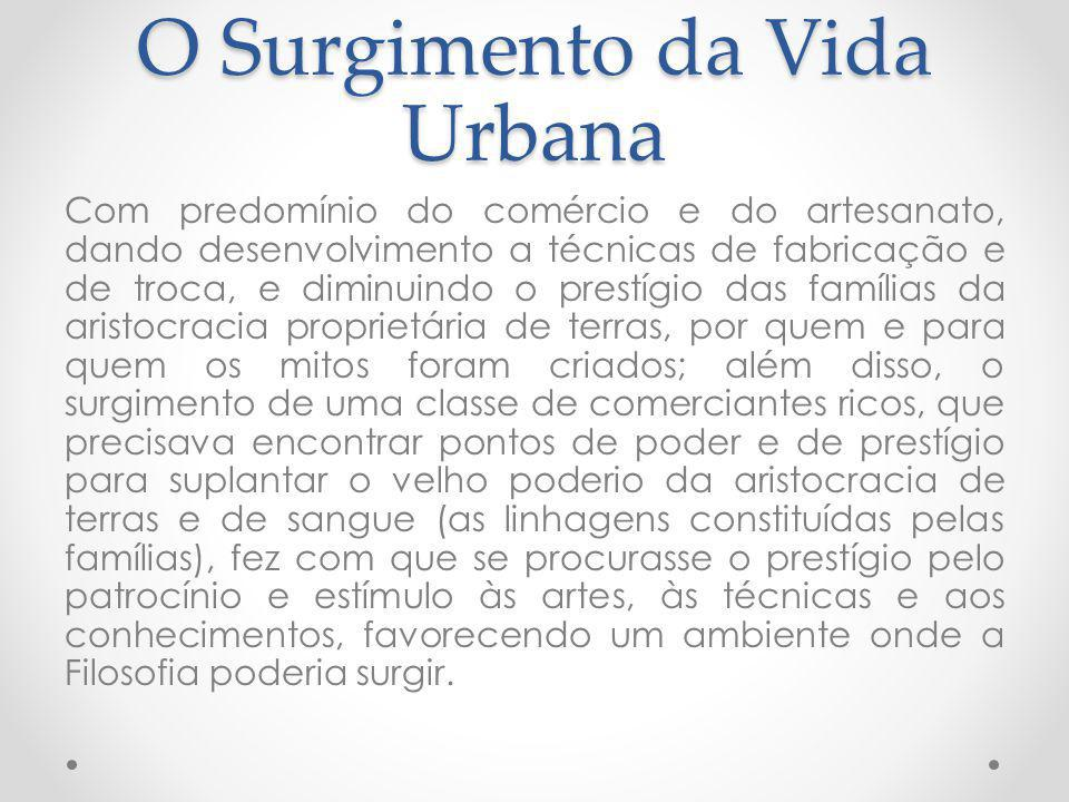 O Surgimento da Vida Urbana