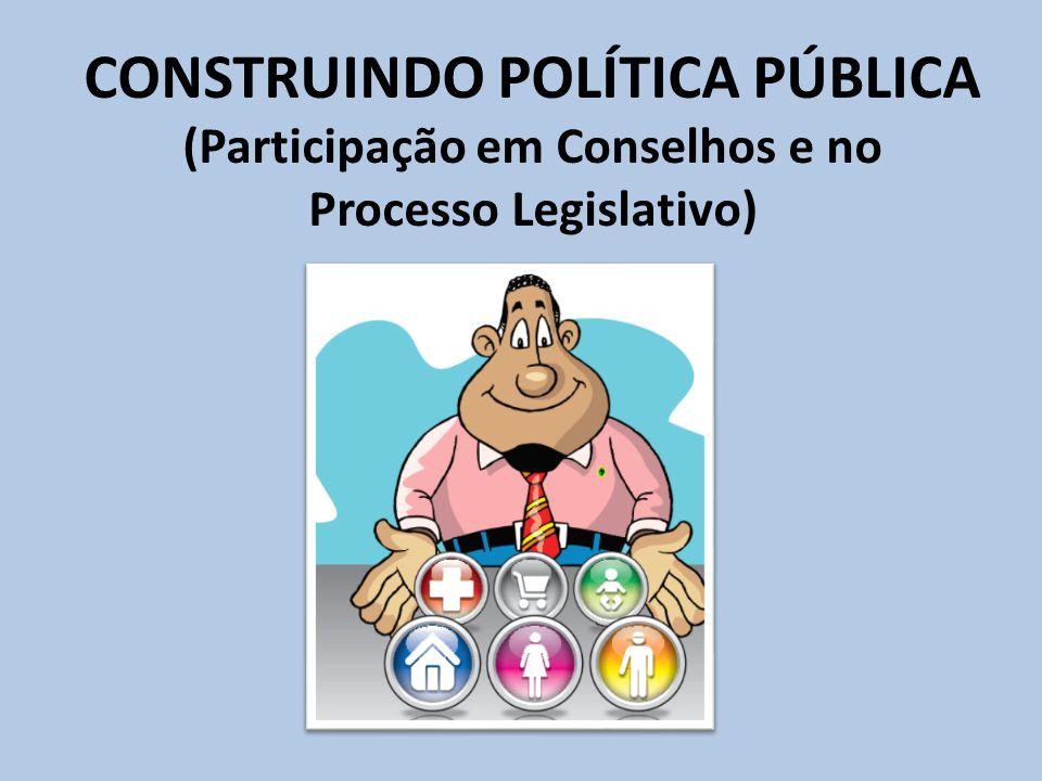 CONSTRUINDO POLÍTICA PÚBLICA