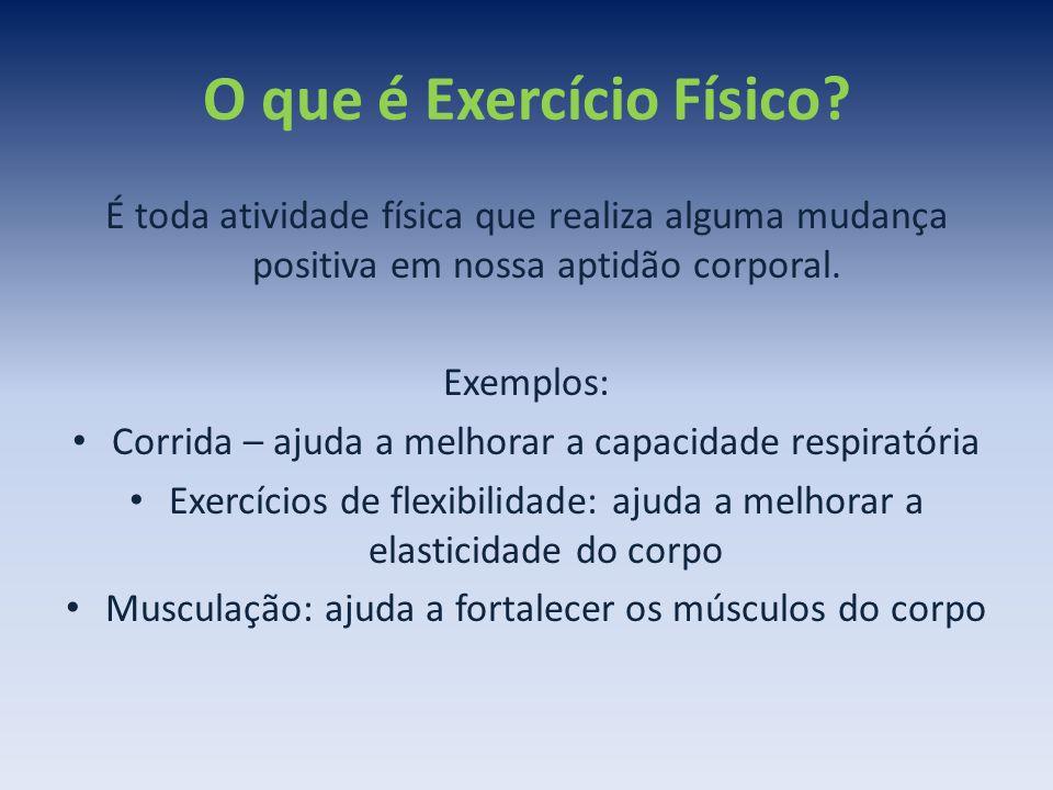 O que é Exercício Físico