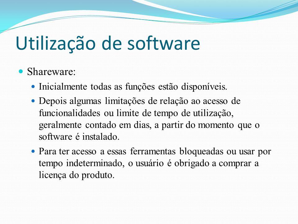 Utilização de software