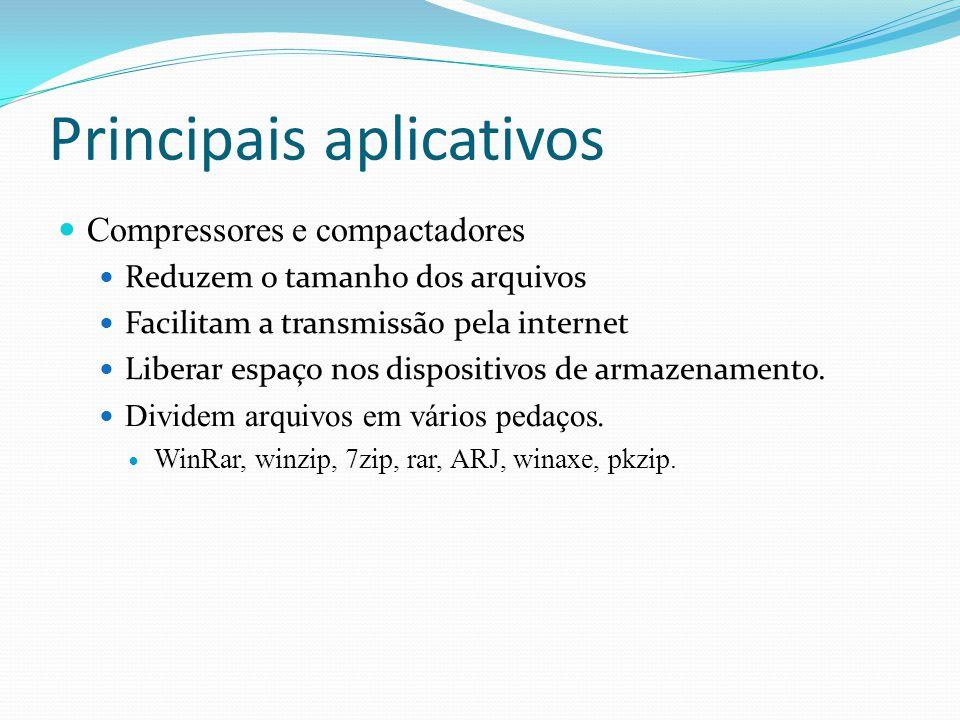 Principais aplicativos