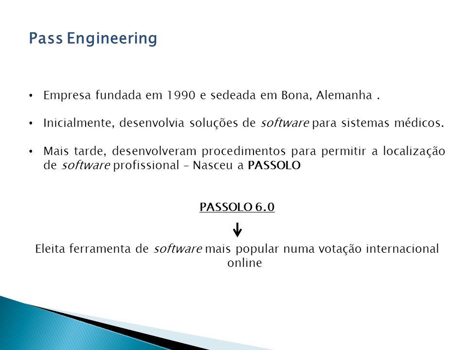 Pass Engineering Empresa fundada em 1990 e sedeada em Bona, Alemanha .