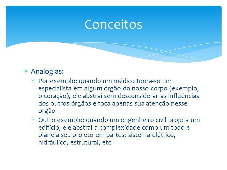 Conceitos Analogias: