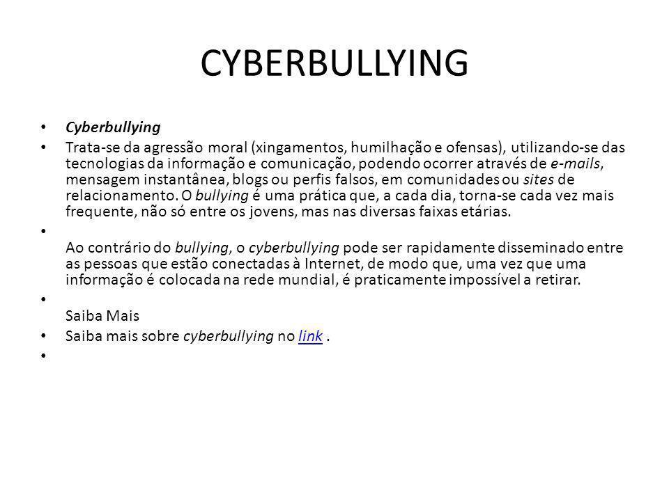 CYBERBULLYING Cyberbullying