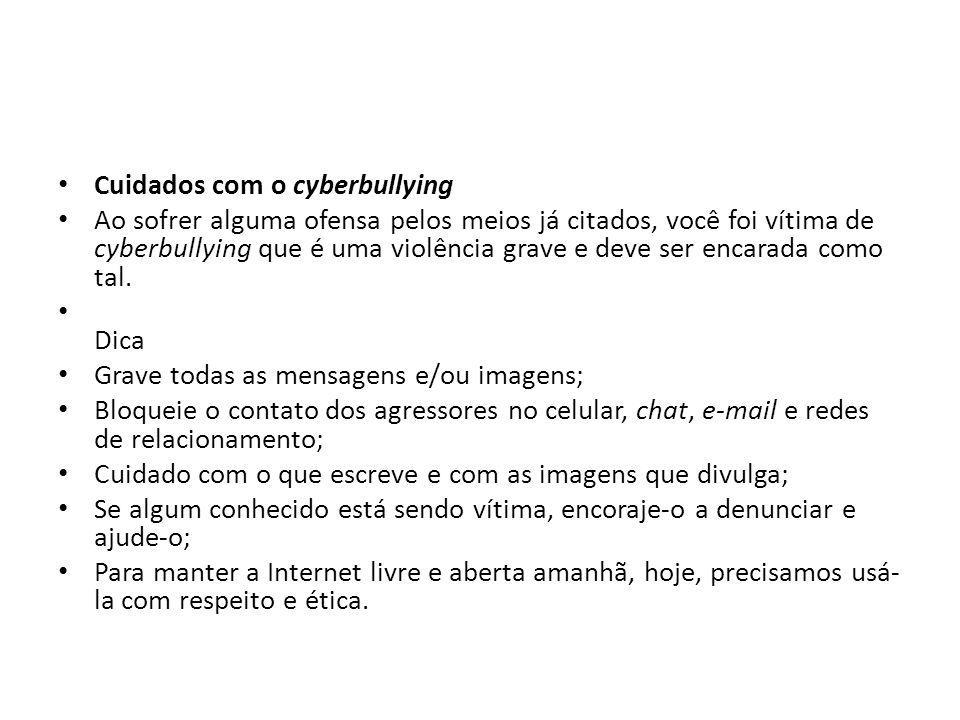 Cuidados com o cyberbullying