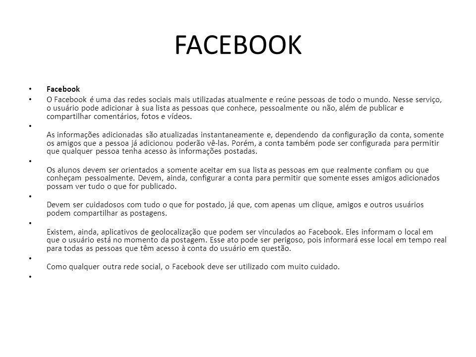 FACEBOOK Facebook.