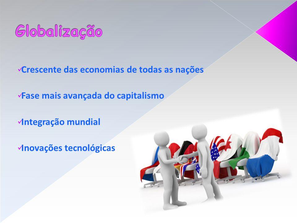 Globalização Crescente das economias de todas as nações