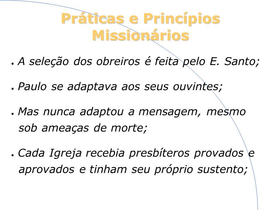Práticas e Princípios Missionários