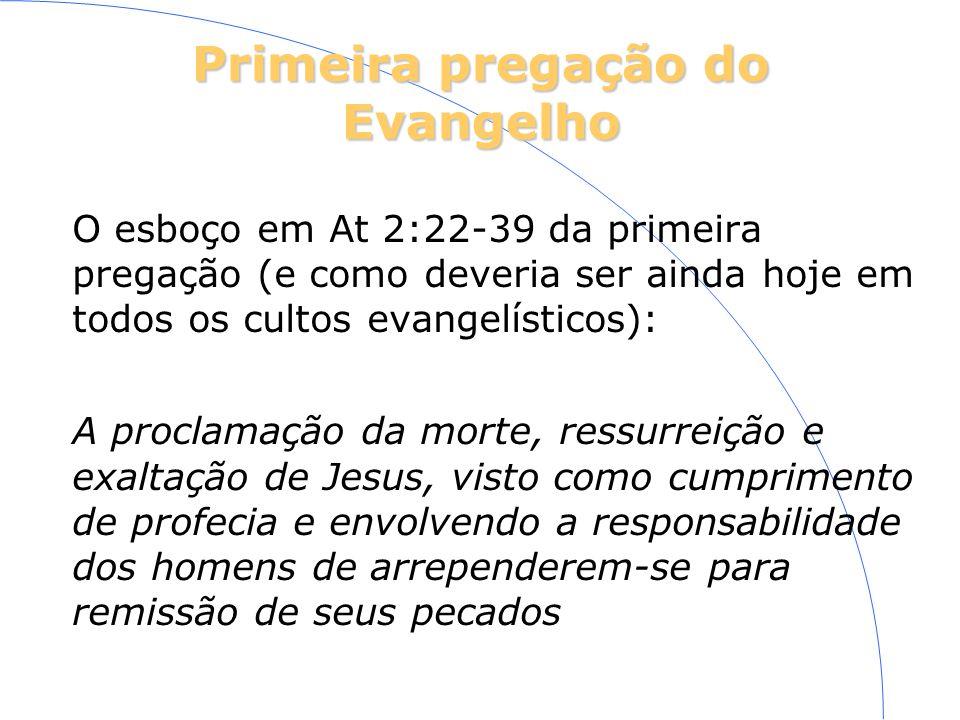 Primeira pregação do Evangelho