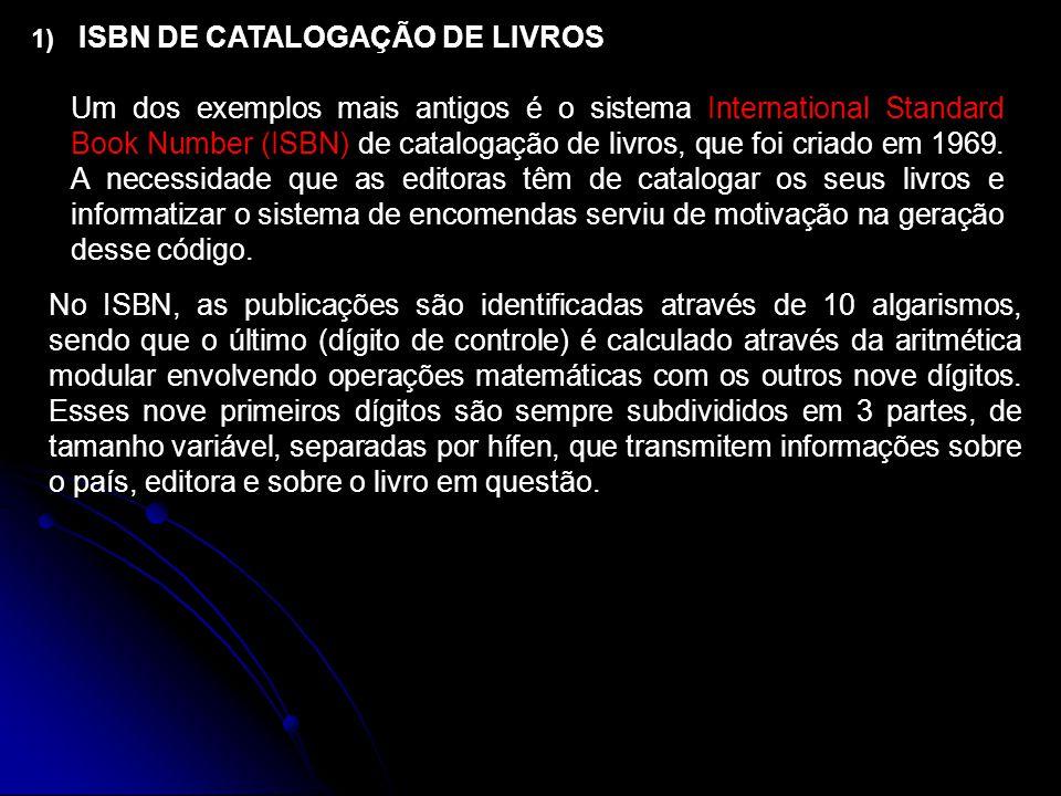 ISBN DE CATALOGAÇÃO DE LIVROS