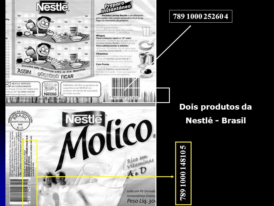 789 1000 25260 4 Dois produtos da Nestlé - Brasil 789 1000 14810 5