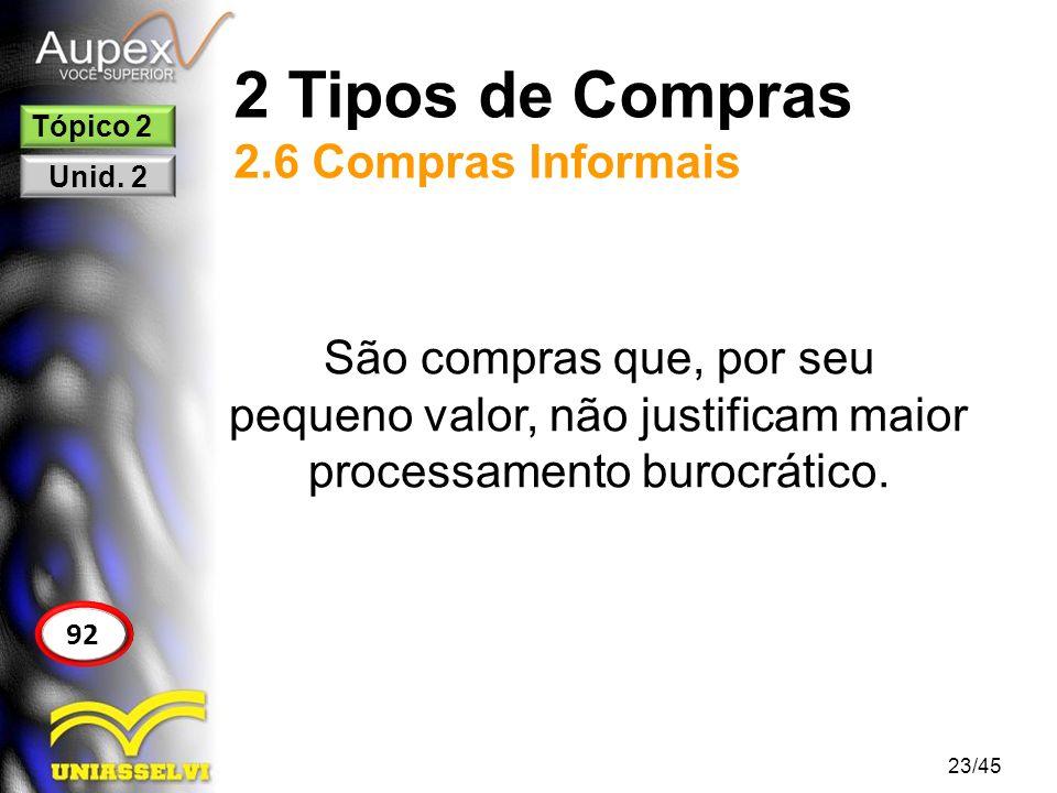 2 Tipos de Compras 2.6 Compras Informais