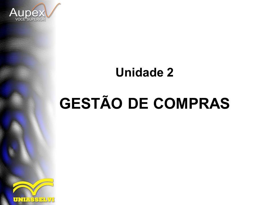 Unidade 2 GESTÃO DE COMPRAS