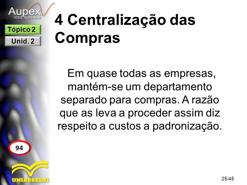 4 Centralização das Compras