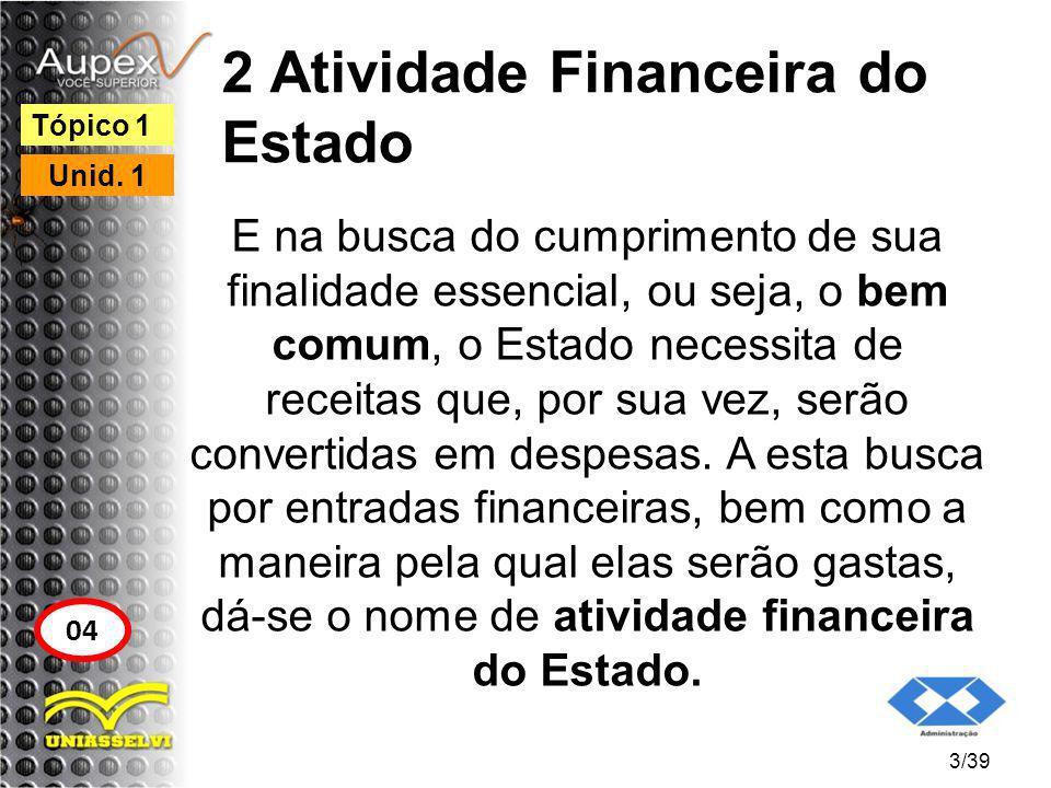 2 Atividade Financeira do Estado