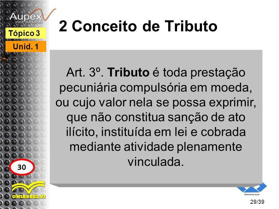 2 Conceito de Tributo Tópico 3. Unid. 1.