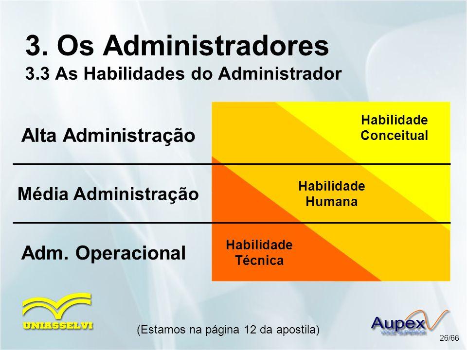 3. Os Administradores 3.3 As Habilidades do Administrador