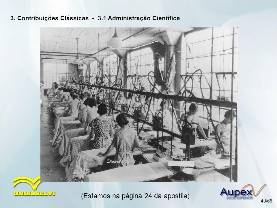 3. Contribuições Clássicas - 3.1 Administração Científica