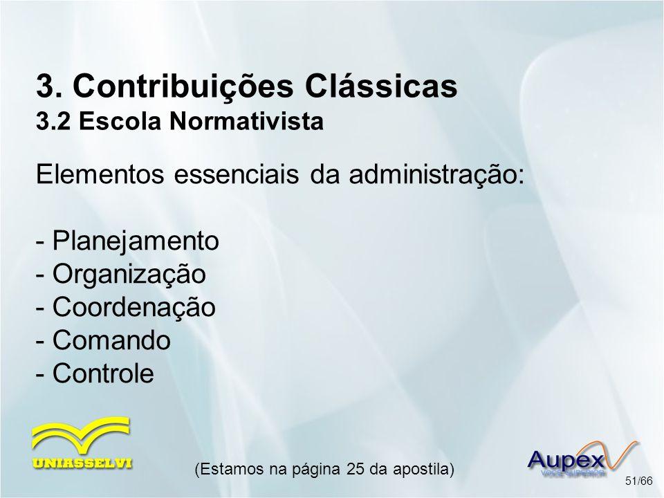 3. Contribuições Clássicas 3.2 Escola Normativista