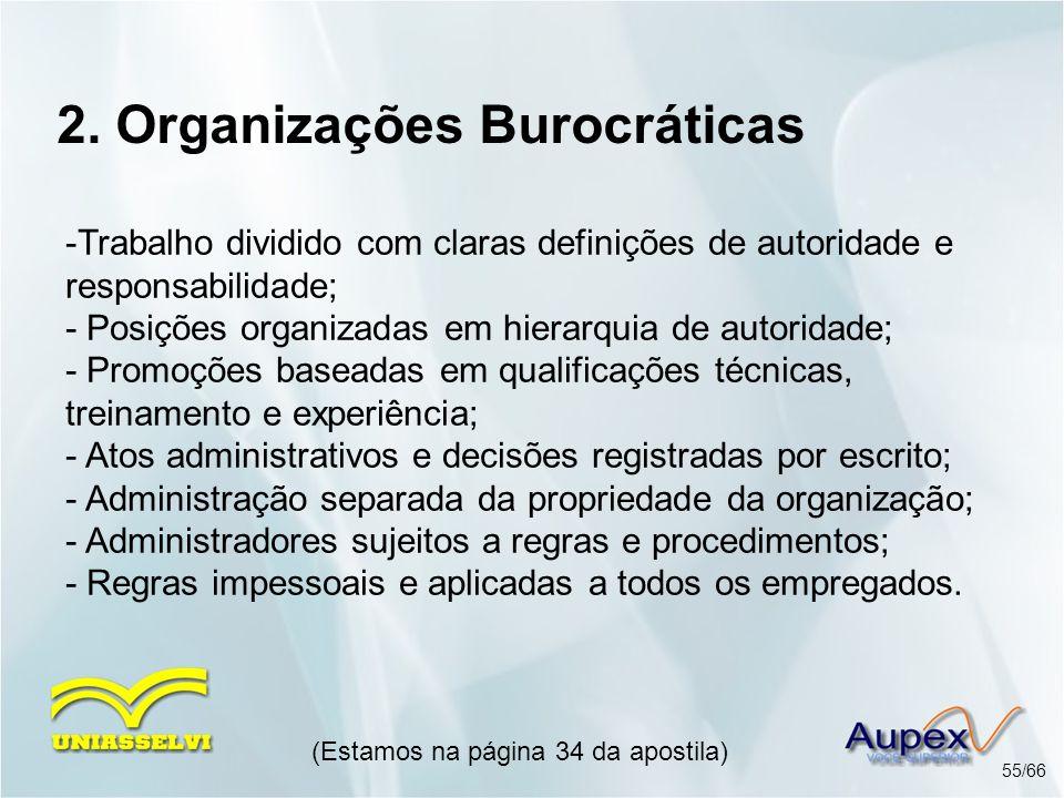 2. Organizações Burocráticas