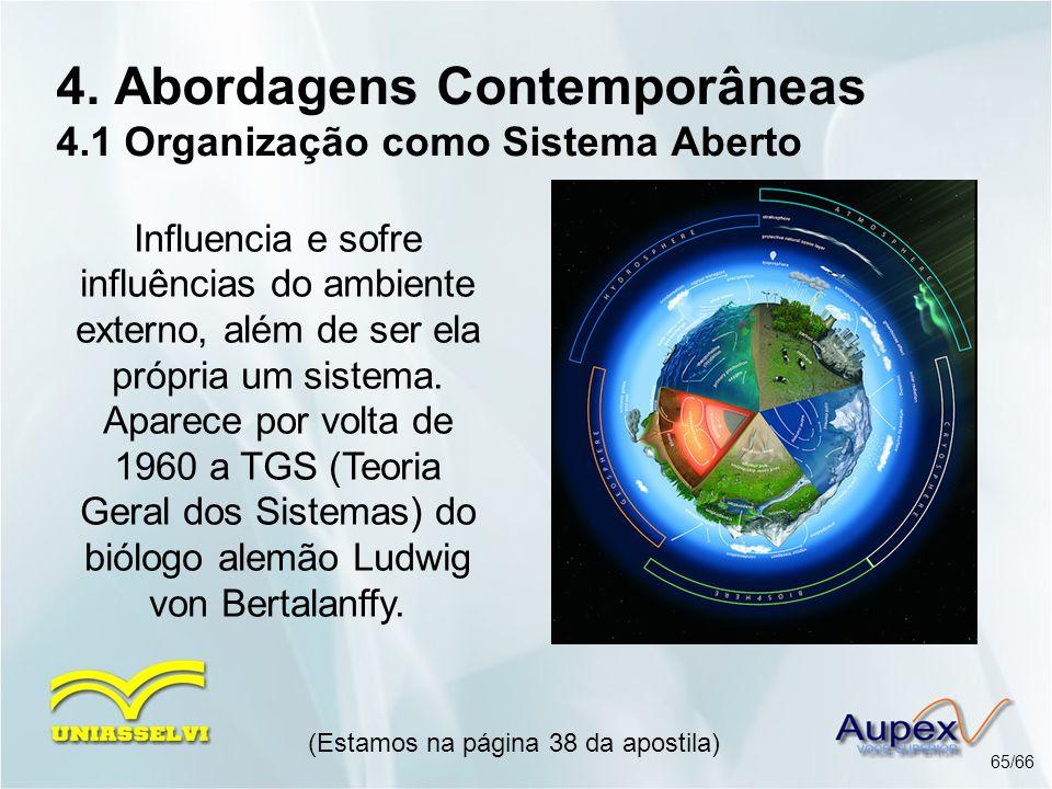 4. Abordagens Contemporâneas 4.1 Organização como Sistema Aberto