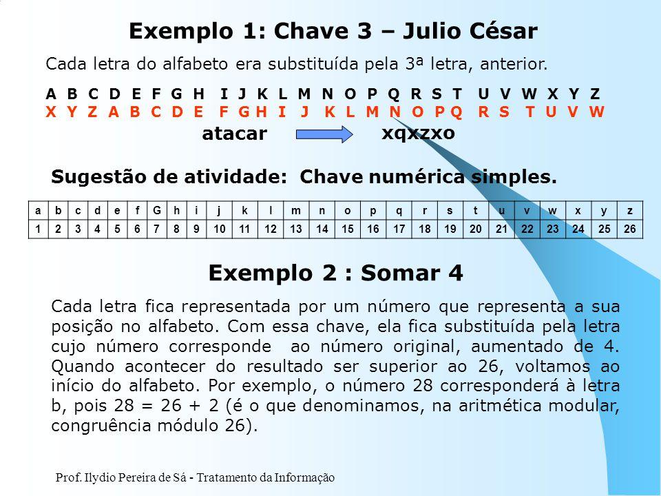 Exemplo 1: Chave 3 – Julio César