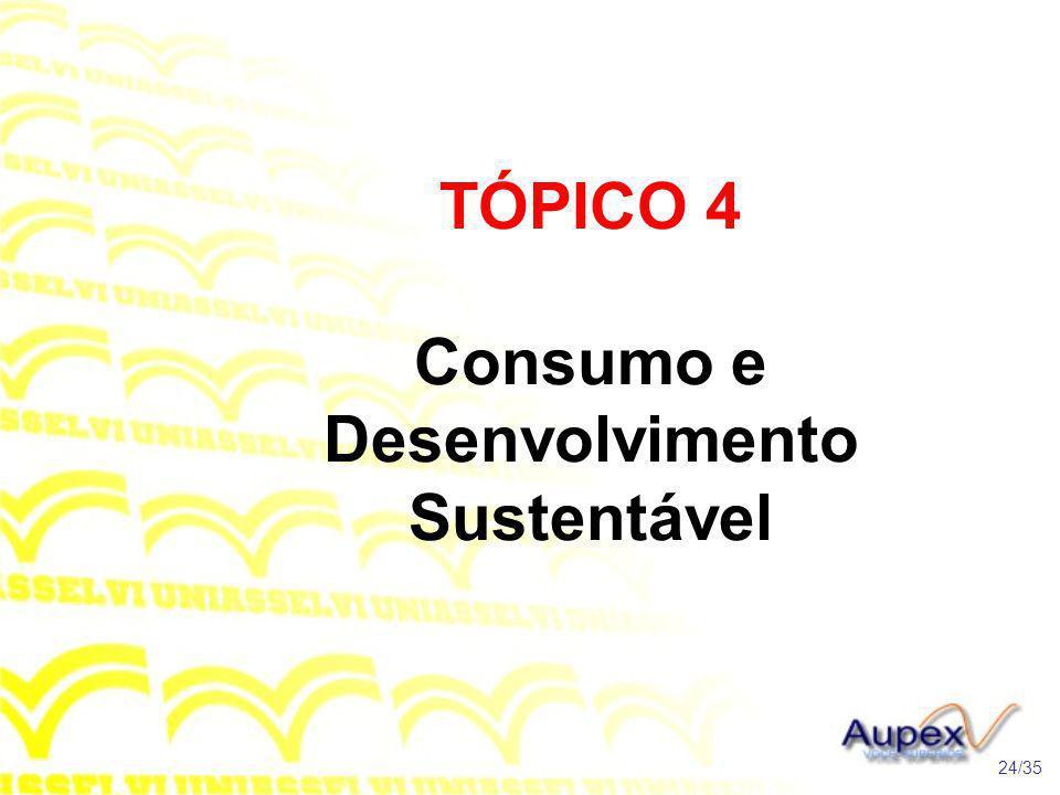 TÓPICO 4 Consumo e Desenvolvimento Sustentável