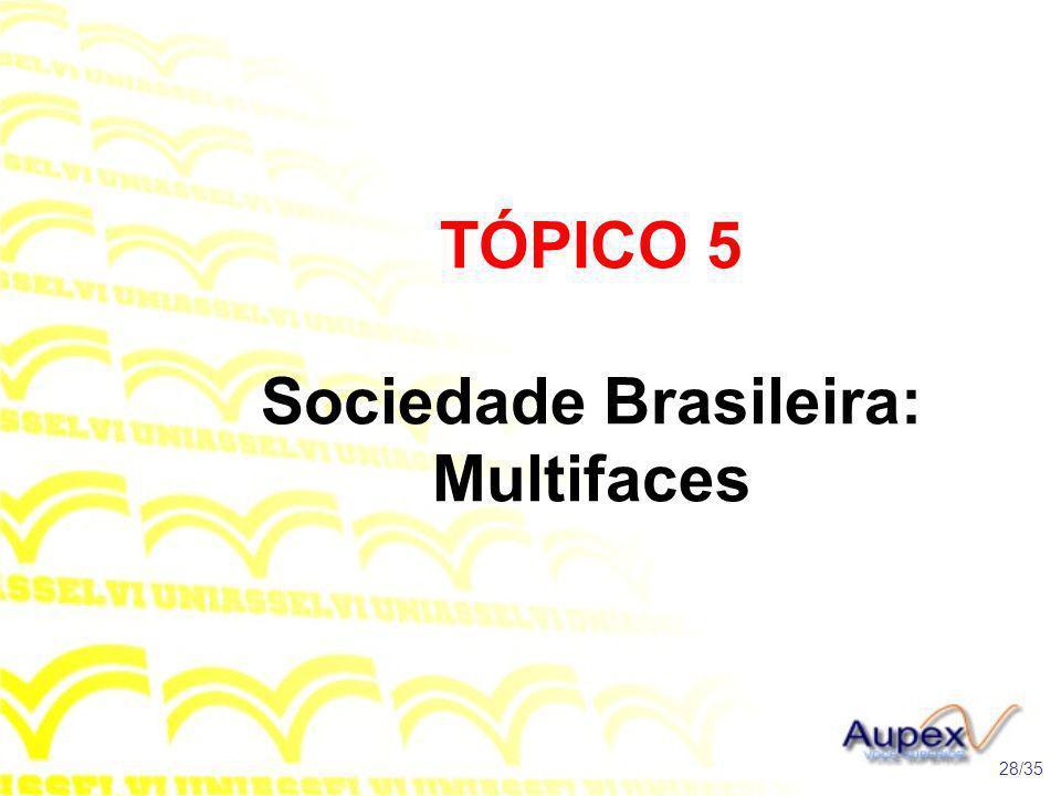 TÓPICO 5 Sociedade Brasileira: Multifaces