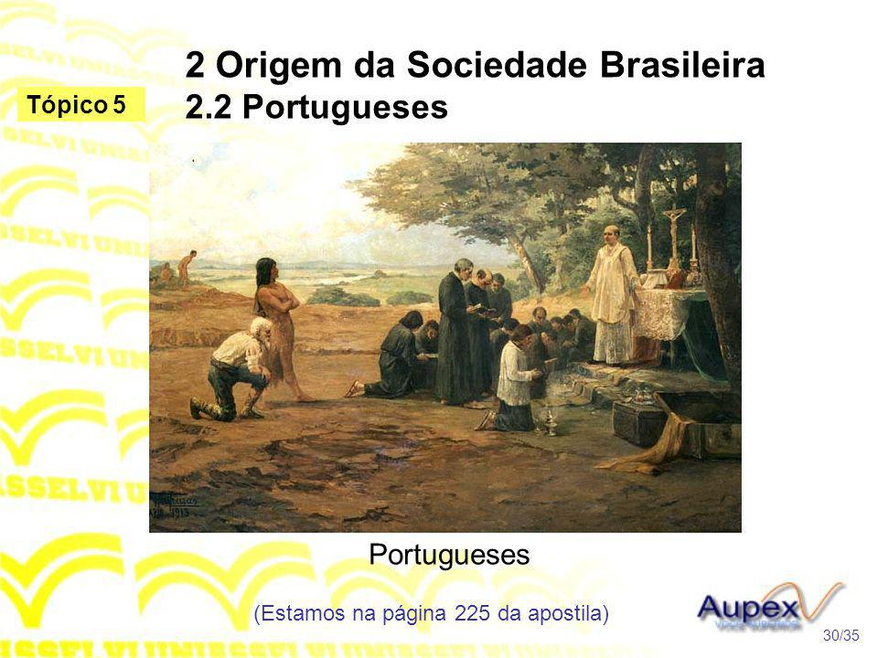 2 Origem da Sociedade Brasileira 2.2 Portugueses