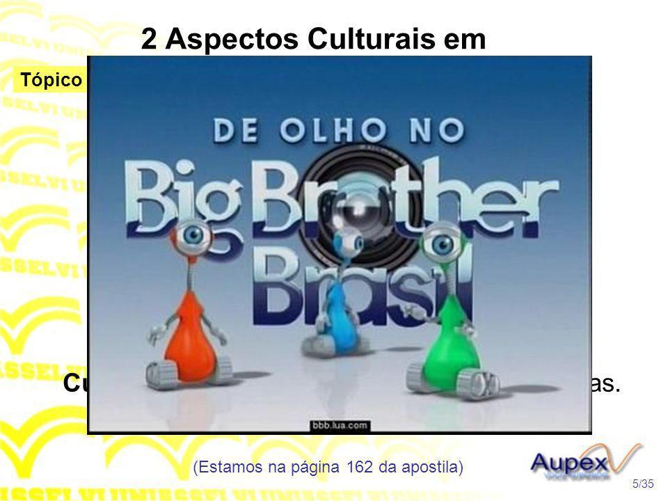 2 Aspectos Culturais em Discussão